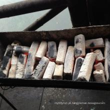 Briquete de carvão de casca de coco em tempo longo carvão ardente tempo