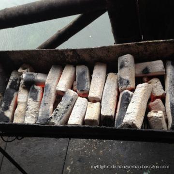 Kokosnussschale Holzkohlebrikett in sechseckiger langer Brenndauer Holzkohle