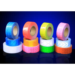 Reflective PVC tape for safety garments