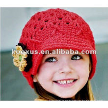 babys' Caps crochet hat with flower baby crochet hats infant beanie Kid knitted Cap