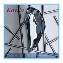 Moda jóias austrian cristal colar de pingente de forma crescente lua