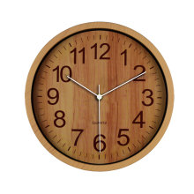Wooden decorative wall clock for promotion item
