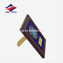 Moldura de fundo de veludo moldura placa de prêmio de madeira