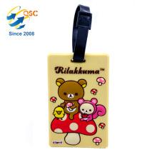 Étiquette de bagage d'ours de pliage d'avions promotionnels bon marché de cadeaux