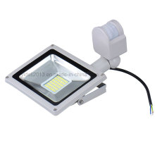 New Ce RoHS 30W LED SMD LED Floodlight with PIR Motion Sensor