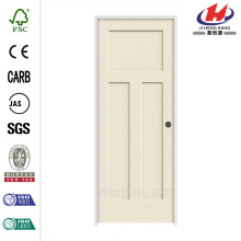 28 in. x 80 in. Craftsman Smooth 3-Panel Solid Core Primed Molded Single Prehung Interior Door