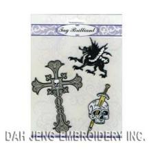 Cross & Skull Embroidered Paquete de Etiquetas