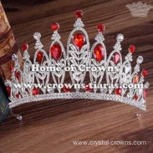 Wholesale Alloy Wedding Tiaras With Blue Diamonds