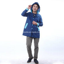 Men Waterproof Long Raincoat (Hood Is Available)