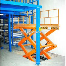elevador de carga elétrico para o armazém
