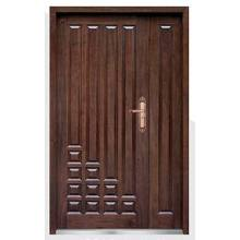 Puerta de seguridad blindada de madera de acero de alta calidad