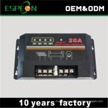12V 10A 20A 30A lista de preços baratos controlador de carga solar
