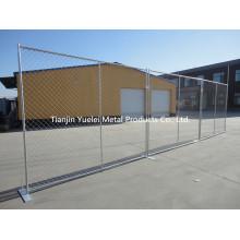 Controle de multidão de aço galvanizado portátil Controle a cerca temporária, barreira do controle da multidão Cerca temporária