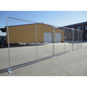 Contrôle de la fougue en acier galvanisé portable Fermeture temporaire, barrière de contrôle de la fouille Clôture temporaire