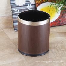 Нержавеющая сталь Круглый открытый верхний элитный 10L мусорный ящик (K-10LA)