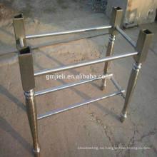 Fundición hierro mesa pierna con proceso de pulido