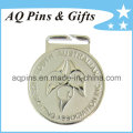 Zinc Alloy Medal in Silver Plating for Ice Skating