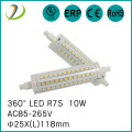 Dimmable R7S 118mm UL Led Lamp 25mm