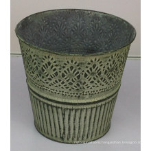 Vintage old flower bucket