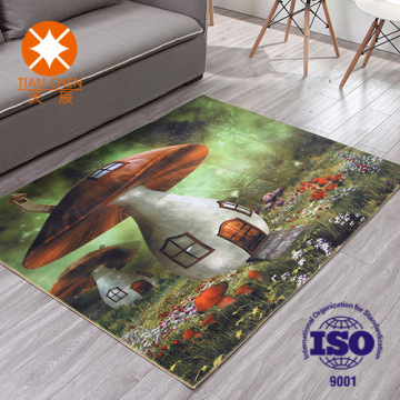 3d Digital Printd Contracted Fashion Carpet