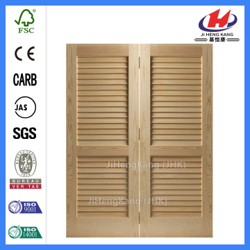 JHK-B07 Unfinished Full Louvered Doors Cheap