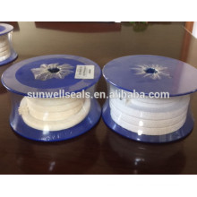 PTFE braided packing/oil/without oil/pure PTFE yarn(SUNWELL)