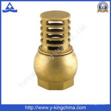 Válvula de pie de latón utilizada en agua (YD-3004)