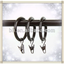Heavy Duty 1.5 inch Cocoa Curtain Rings with Clip