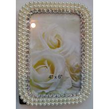Cadre Photo en alliage avec des cristaux et perles