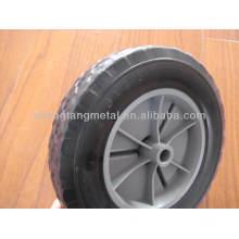 8x1.75 polegadas roda de borracha maciça com borda plástica