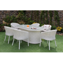 2017 High Quality Poly Rattan Aluminum Frame Outdoor Dining Set from Vietnam