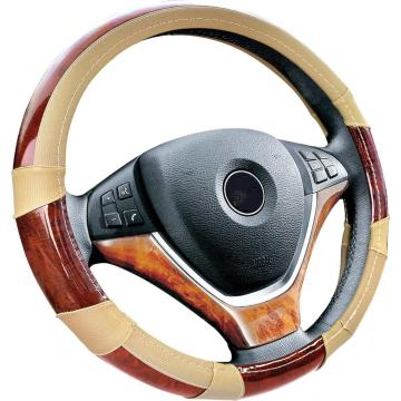 Factory Price for Safe PVC Steering Wheel Cover PVC leather wooden steering wheel cover supply to Eritrea Supplier