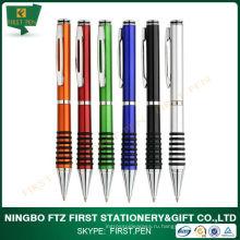 Металлический клип Рекламная пластиковая ручка для оптовой продажи