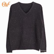Black Nepyarn V Shape Golf Sweater For Men