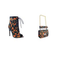 Camouflage purse matching shoes bootie matching handbag messenger purse