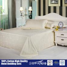 Conjuntos de folhas de cama de bambu puro 100% / tecido de fibra de bambu por atacado roupa de cama, conjunto de cama bonita