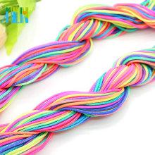 Cable trenzado de jade, cuerda de alambre de nudo chino para hacer joyas de 1.0 mm y 1.2 mm, ZYL0016