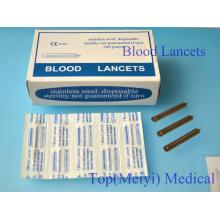 Lancetas de sangre de acero inoxidable