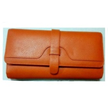 Guangzhou Supplier Fashion Real Leather Long Purse Women′s Purse Wallet (W184)