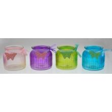 2016 New Design Colorful Glass Candle Holder for Spring
