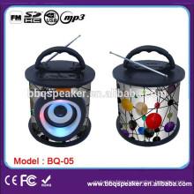 portable hi-fi audio mp3 wooden speaker