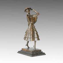 Estatua de Bailarina Escultura de Bronce de la Señora Española, P. Philippe TPE-316