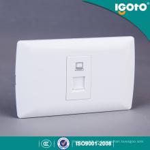 Igoto American Standard Internet Datum Power Wandsteckdose RJ45 für Netzwerkanschluss
