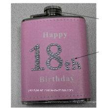 Amaozn Hot Sales Pink Color Ladies 4oz Mini Hip Flask