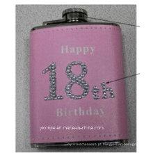 Amaozn Hot Sales cor-de-rosa da cor das senhoras 4oz mini frasco do quadril