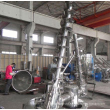 2017 DSH series double-screw Conical mixer, SS double cone dryer, horizontal dough mixer commercial