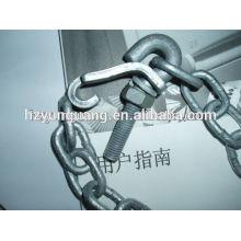 Eisenbeschlag Stahlschäkel Eisenkette Ankerbolzen Arten von Scharnieren
