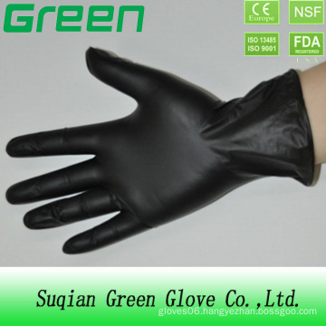 Black Disposable PVC Vinyl Glove