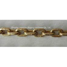 G80 Link Chain, Yellow Zinc Plate