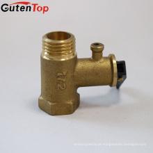GutenTop alta qualidade fábrica latão 1/2 '' válvula de segurança com cor de latão para aquecimento de água elétrico